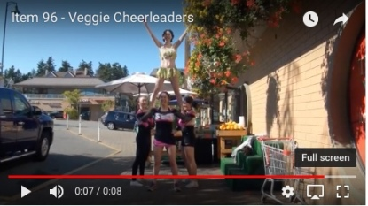 veggie cheerleaders